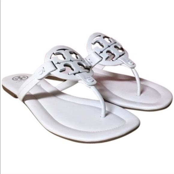 ef1264cfc70 Tory Burch Miller White Thong Flat Sandals. M 5af4df31a825a68a8a65f843